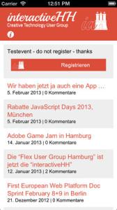 interactiveHH iOS App